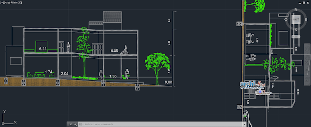 Single family home in AutoCAD