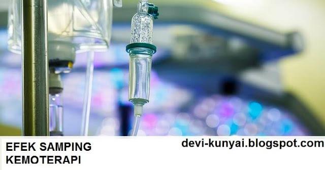 gambar infus cairan kemo, efek samping kemoterapi