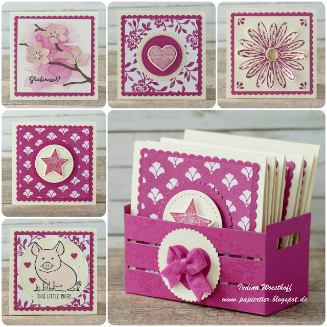 Kreativkiste | Stampin' Up! | papiertier Indina | Mini Card Set | In Colors 2017 | DIY