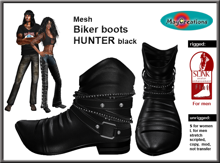 03954bdd544fd Available in our mainstore: MayCreations mainstore. At Second Life market:  Hunter biker boots