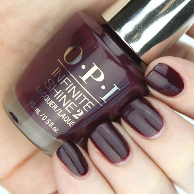 OPI Infinite Shine in Stick To Your Burgundies review swatch