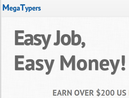 Mega typers online jobs to earn $200 per month