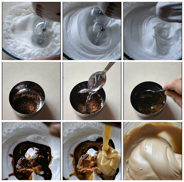 step by step pictures of how to make eggfree nochurn coffee icecream