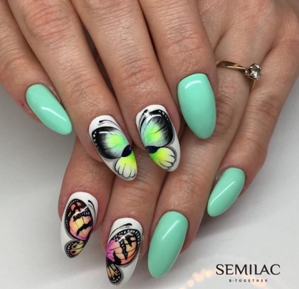 wiosenne inspiracje na manicure