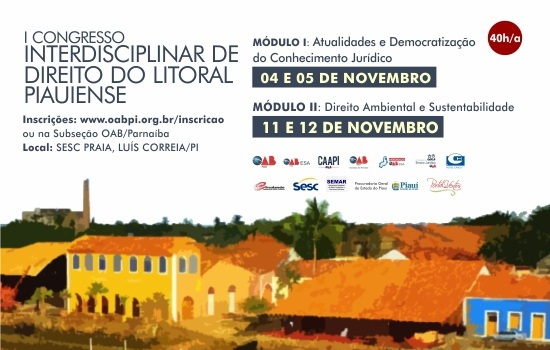 Luís Correia sediará I Congresso Interdisciplinar de Direito do Litoral Piauiense