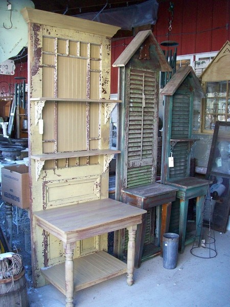 Potting Benches Made From Old Doors And Shutters Green Oak Antiques