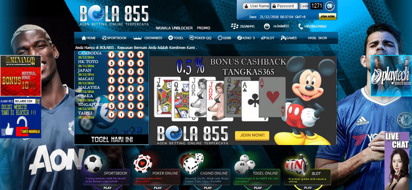 Bola855 | Bandar Taruhan Judi Bola, Togel, Agen Poker Domino Online Terlengkap dan Terpercaya di Indonesia