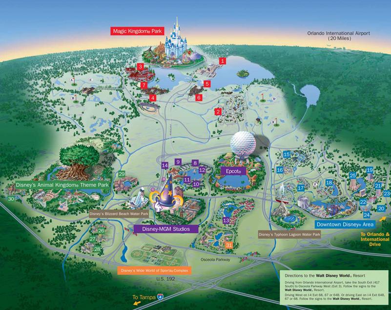 Parques Da Disney Em Orlando Walt Disney World Dicas Da Fl 243 Rida Orlando E Miami