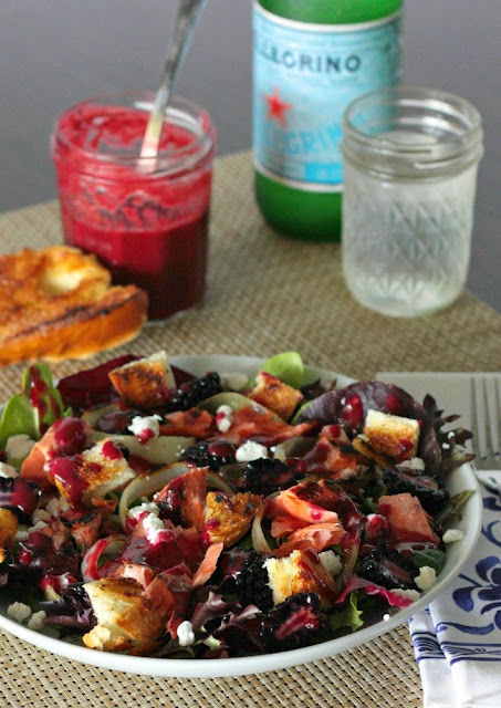 salmon salad blackberry vinaigrette
