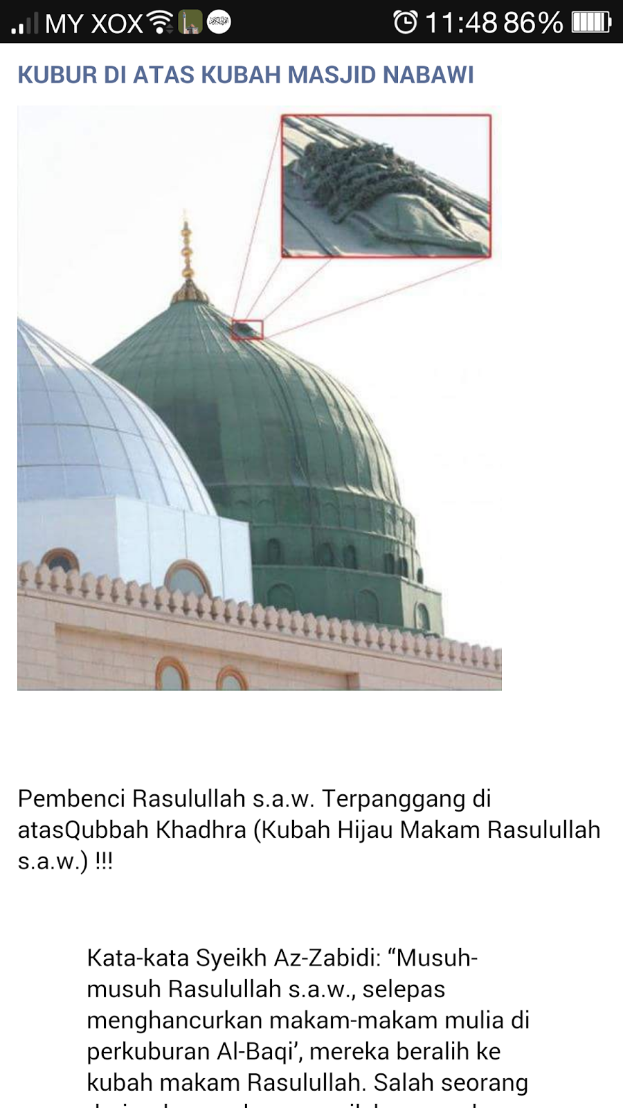 Mayat Diatas Kubah Masjid Nabawi : mayat, diatas, kubah, masjid, nabawi, Benar, Dusta:, Benarkah, Kubah, Masjid, Nabawi, Mayat?