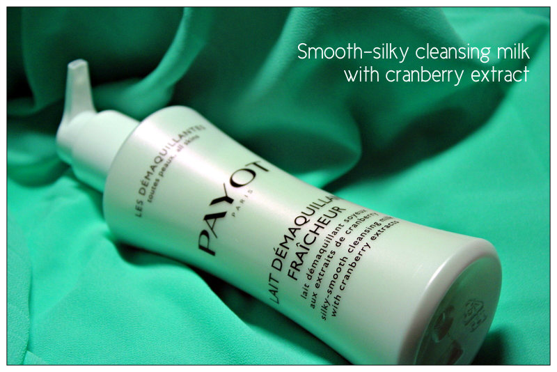 Review: Smooth-silky cleansing milk with cranberry extract PAYOT.
