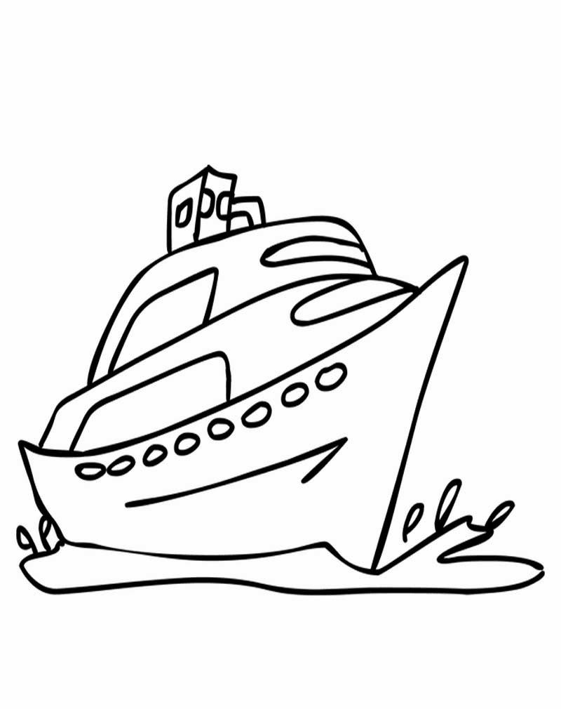 Koleksi Sketsa Gambar Transportasi Laut