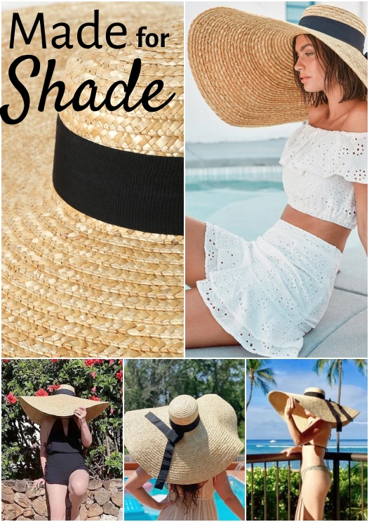 Floppy Oversized Straw Sun Hats