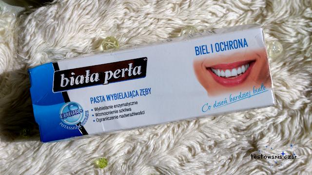 pasta do zębów, wybielanie, biała perła, zęby, białe zęby, osad na zebach