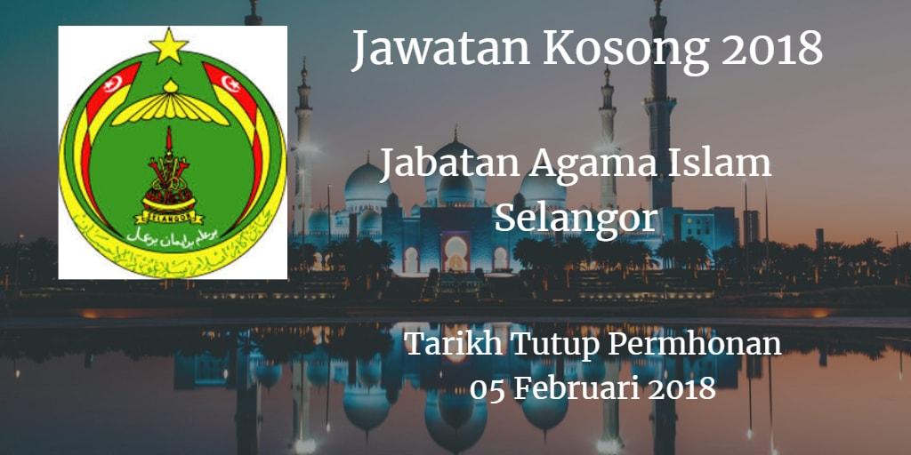 Jawatan Kosong JAIS 05 Februari 2018