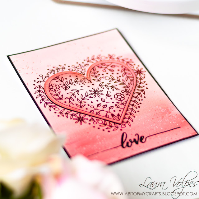Foil Resist Card with Distress Oxides and Glimmer Hot Foil Club Spellbinders