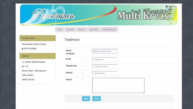 Download Source code Aplikasi Sistem Informasi Percetakan  Berbasis Web