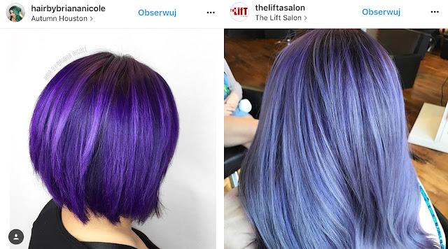 fioletowe farby do włosów