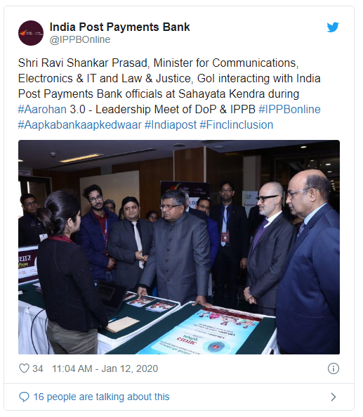 Shri.Ravi Shanakar Prasad Interact with IPPB Officials