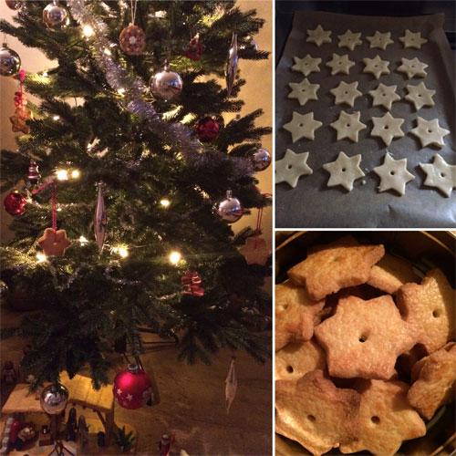 sterkoekjes in de kerstboom