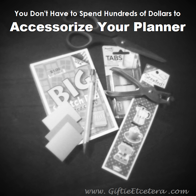 cheap planner accessories; planner on a budget; planner supplies