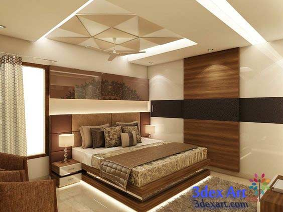 New false ceiling designs ideas for bedroom 2018 with led for Latest bedroom design ideas