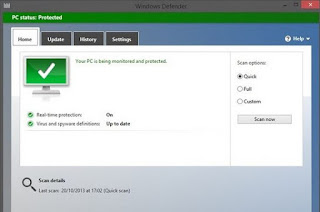 Cara Mengaktifkan Windows Defender windows 8
