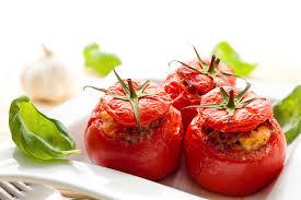 Tomates Rellenos con Champiñones