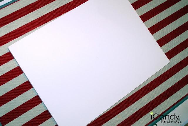 Empty white posterboard