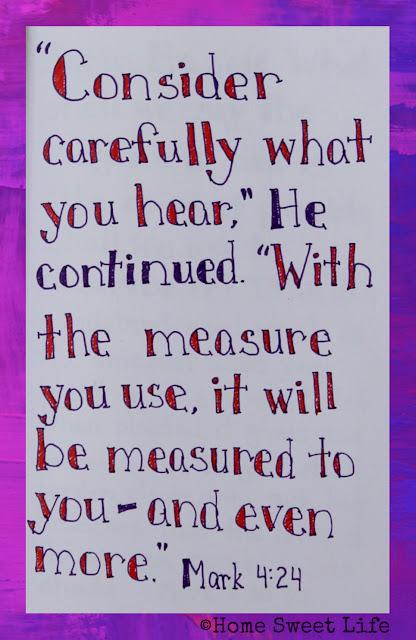 Mark 4:24, Scripture Writing