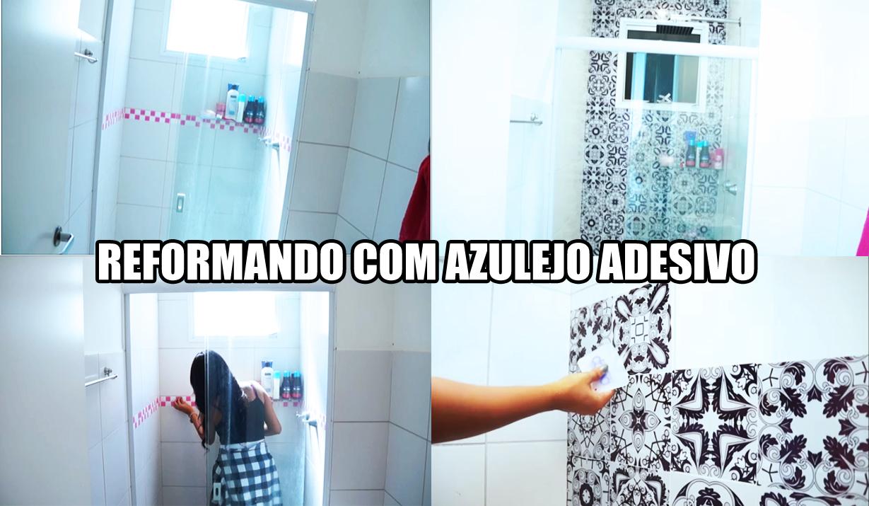 Armario Mdf Quarto ~ Fernanda Calheiros BLOG Azulejo adesivo no banheiro