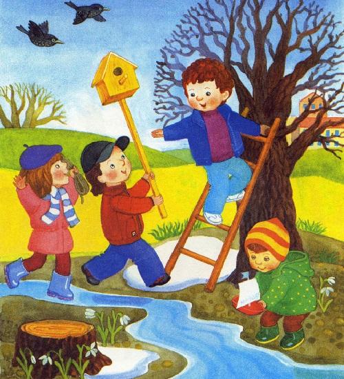 Картинки времена года для дошкольников о весне