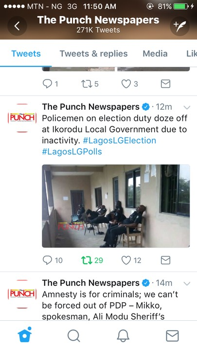» Policemen On Election Duty Doze Off At Ikorodu Local Government (Photo) «