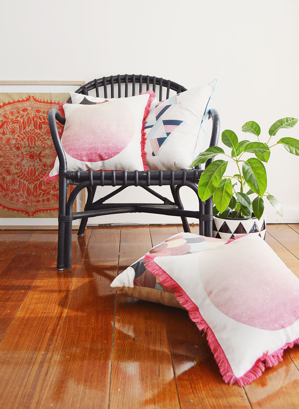 Indian Summer cushion collection by little miss gee