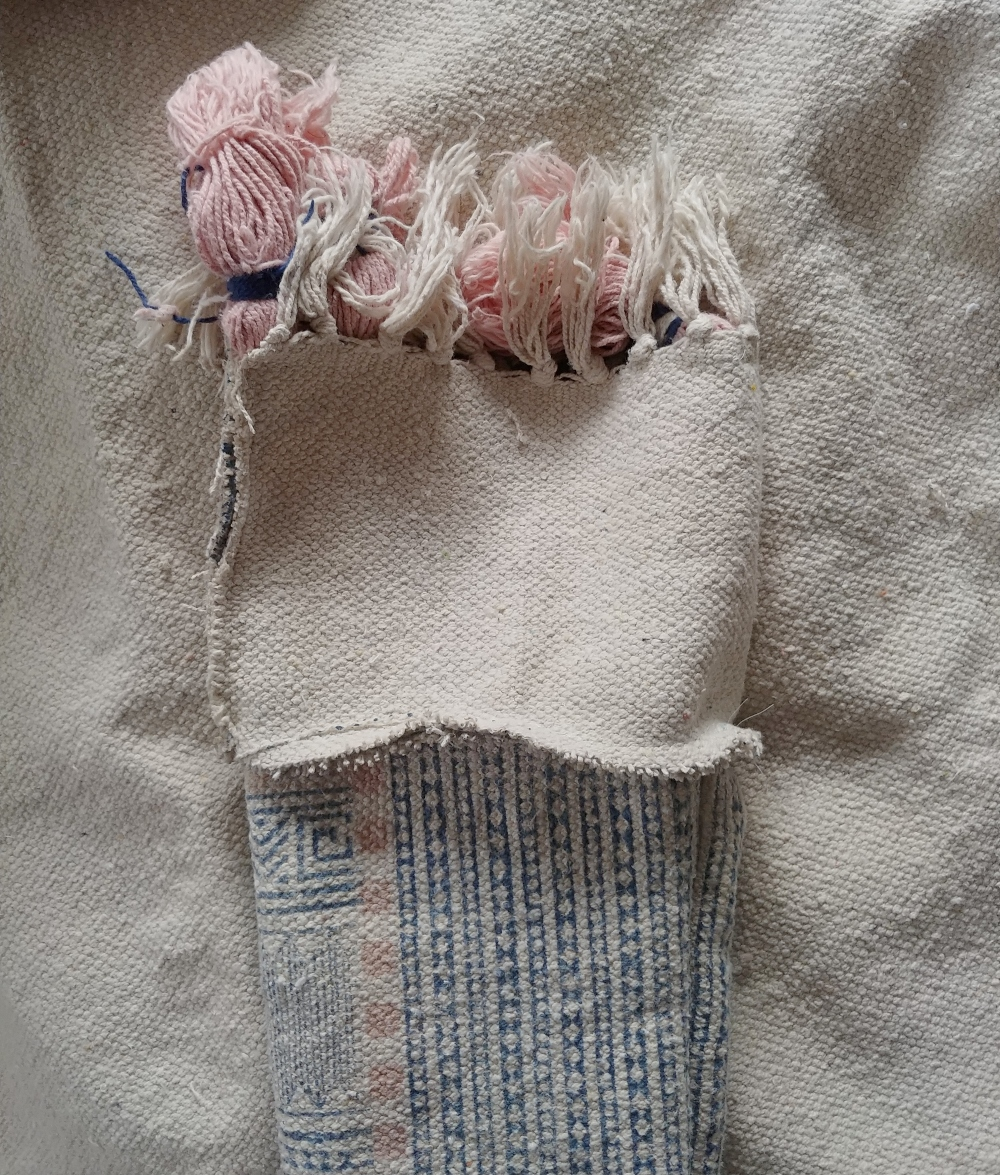 sew the top of the stocking on