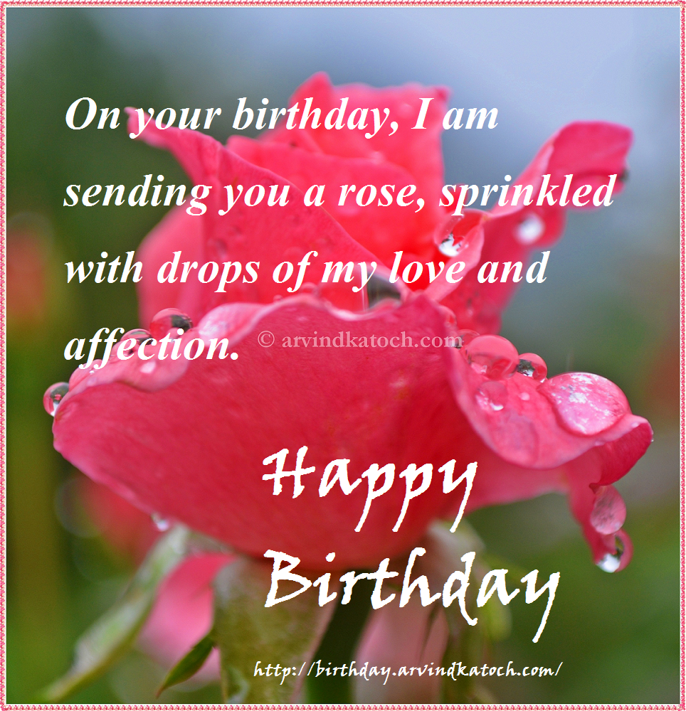 Happy Birthday Card Sprinkled Drops Love Affection