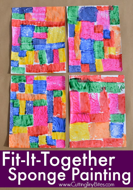 Fit It Together Sponge Painting What Can We Do With
