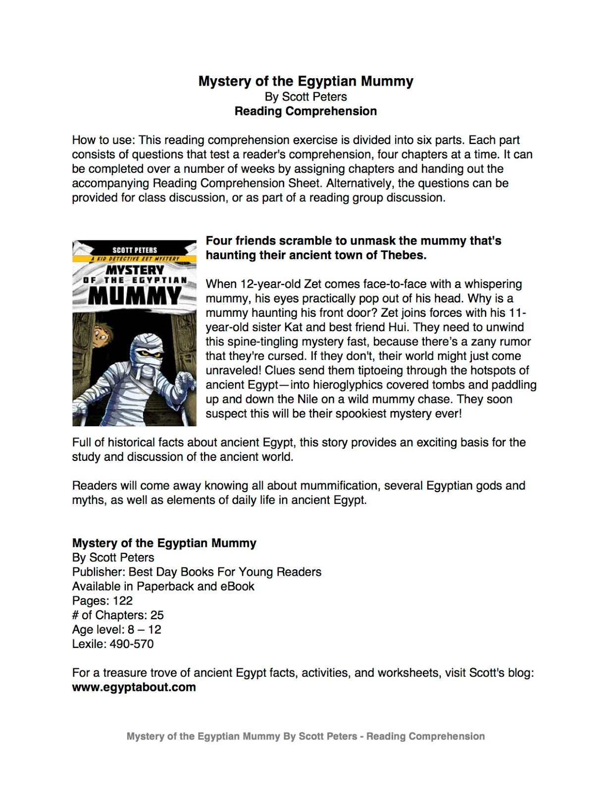 hight resolution of KidsAncientEgypt.com: Mystery of the Egyptian MUMMY: Reading Comprehension