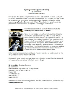 Mystery of the Egyptian Mummy Scott Peters Reading Comprehension Worksheet