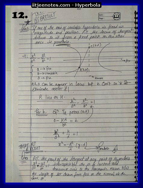 hyperbola notes1