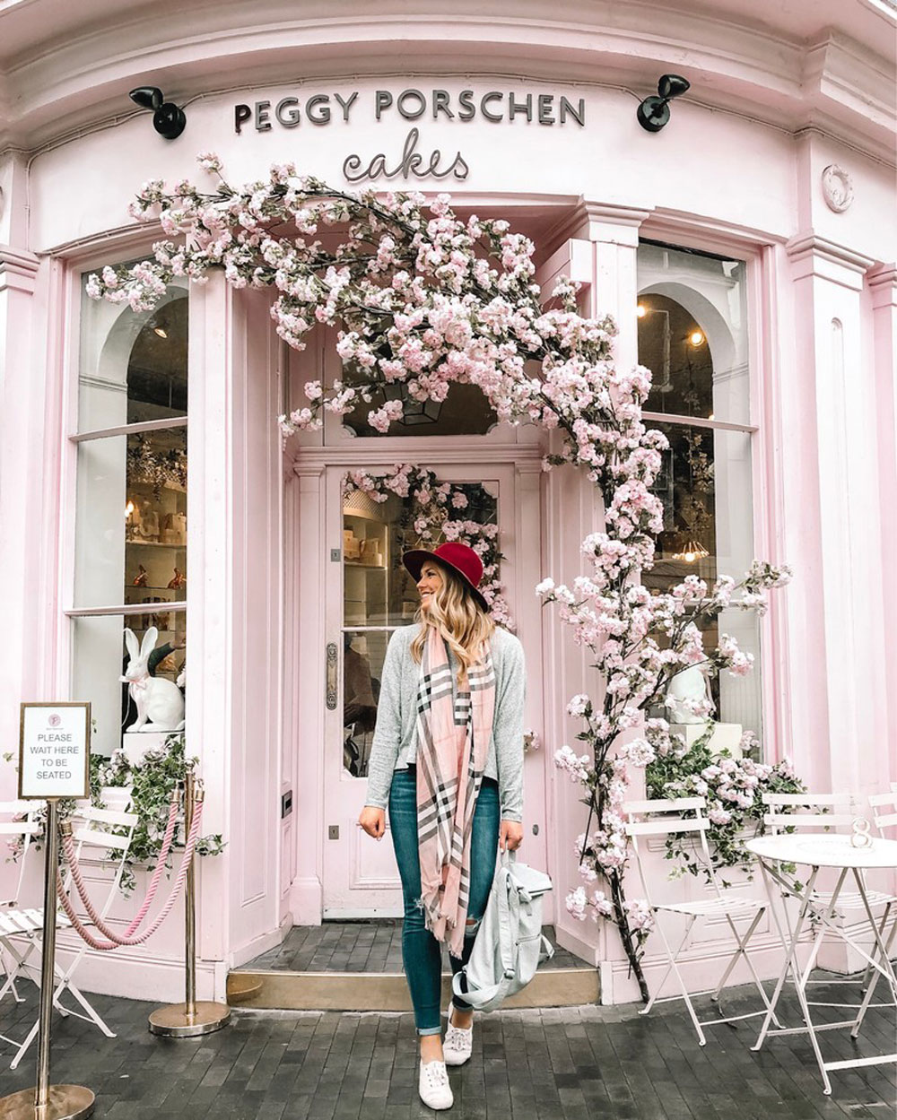 Peggy Porschen Cakes is a popular London Instagram Location!