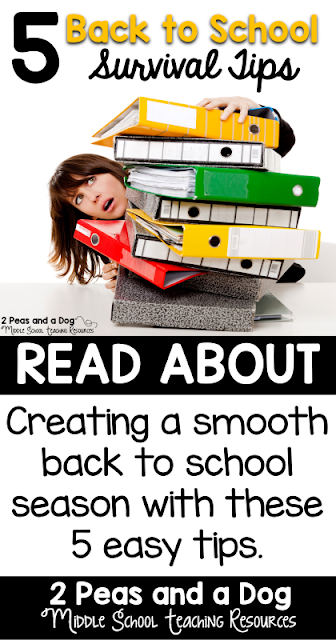 Quick ideas for making the back to school transition smooth for teachers and students.