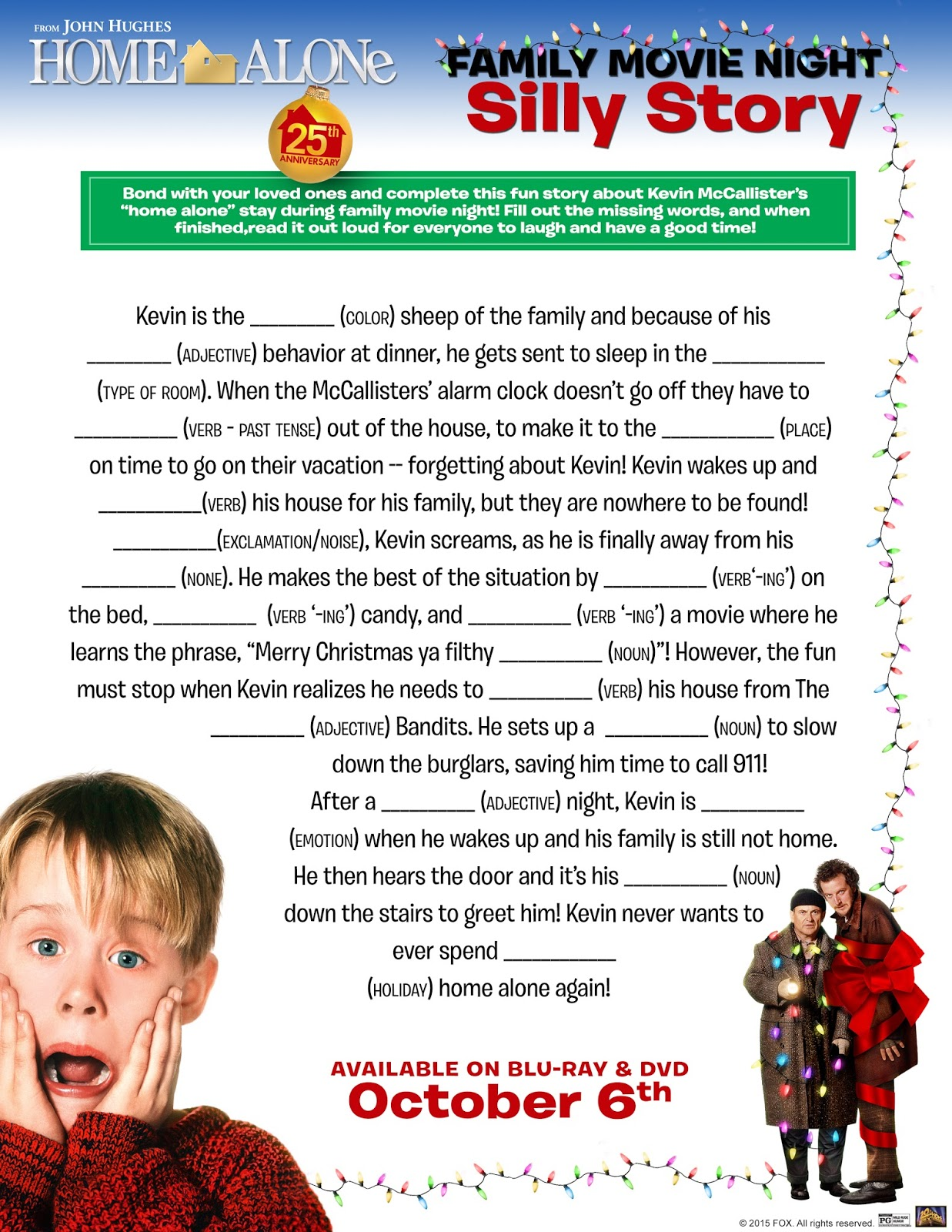 Home Alone Activities For A Fun Movie Night