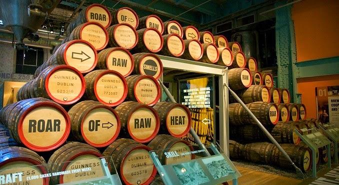 Guinness Storehouse - o museu da cerveja de Dublin