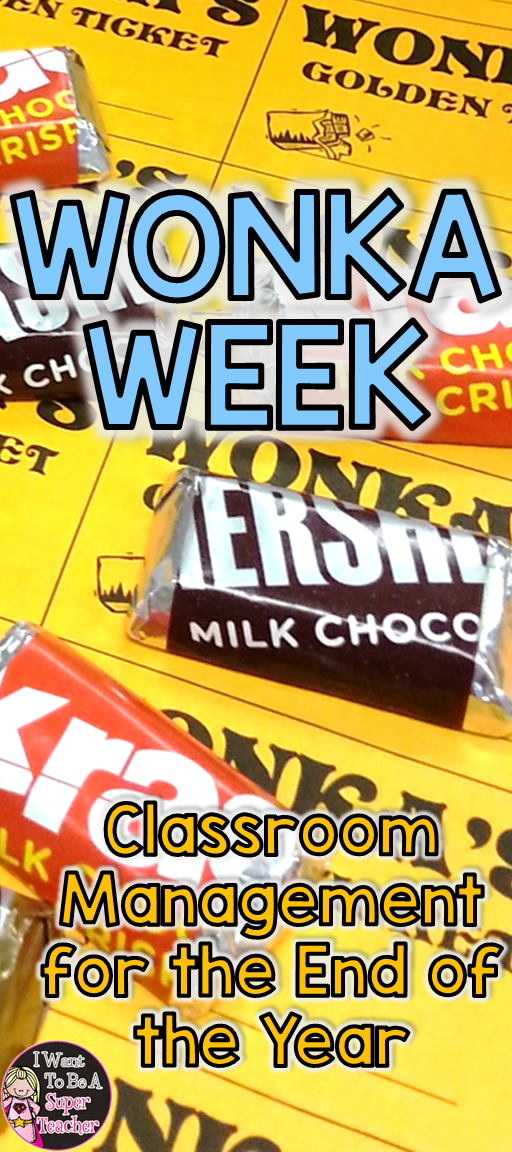 Ideas for Wonka Week using golden ticket freebie - perfect for the end of the year!