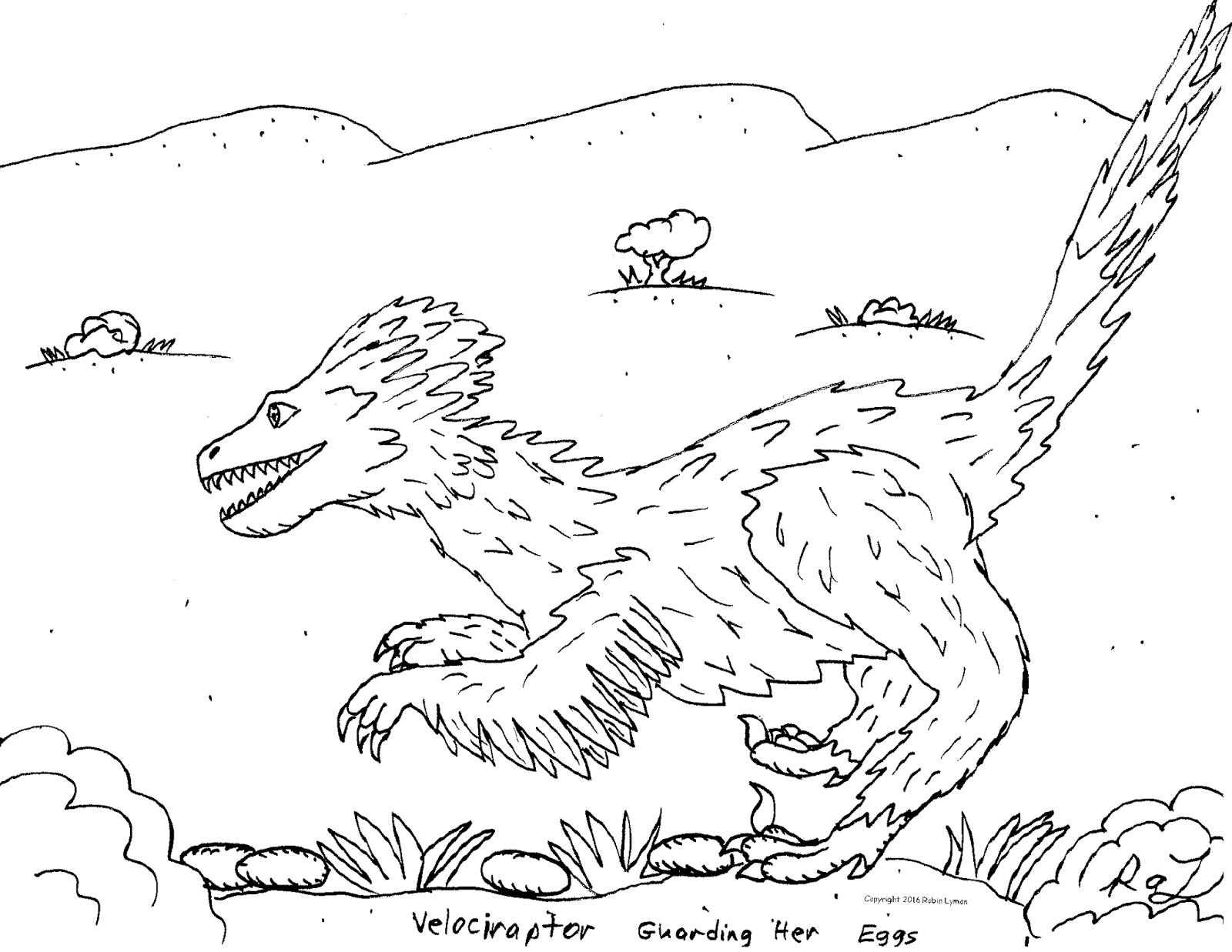 microraptor coloring pages - photo#31