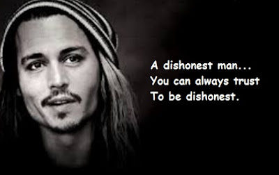 """Johnny Depp Quotes About Dishonest"""
