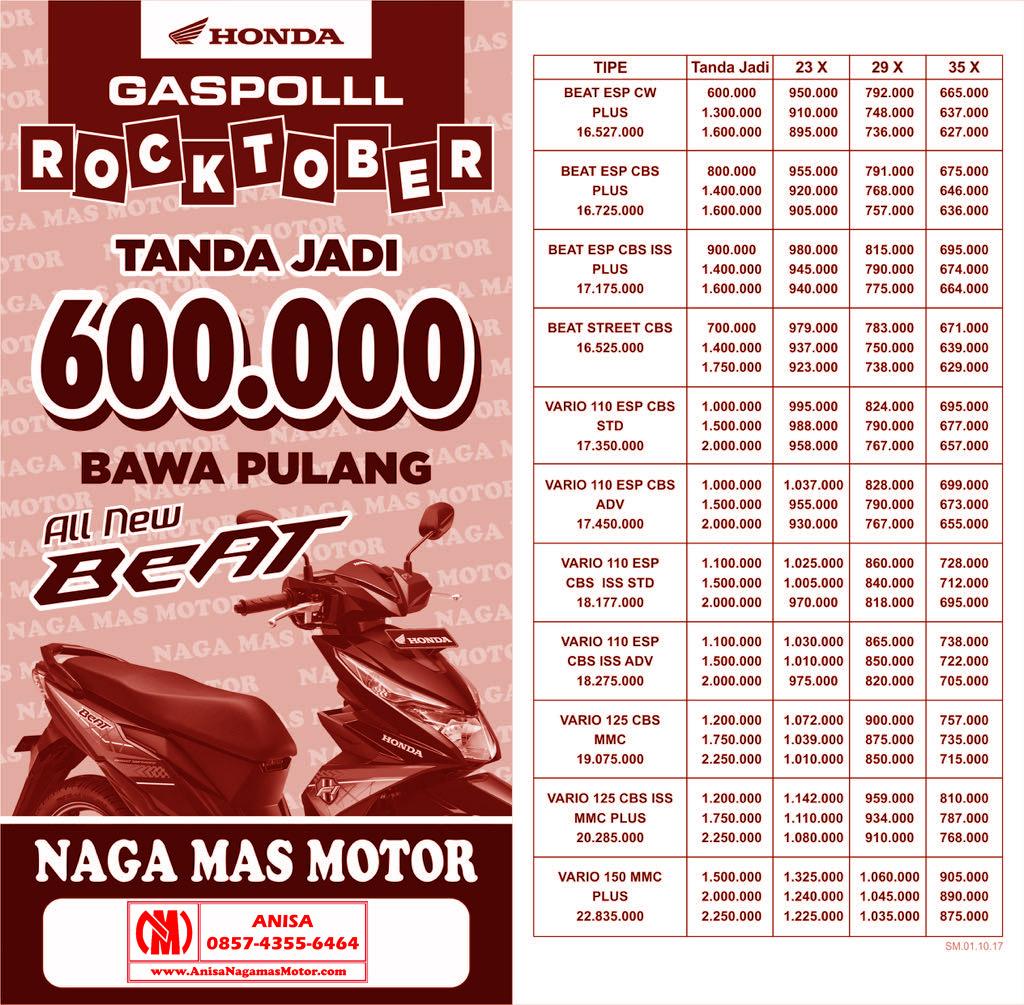 Anisa Counter Sales Dealer Nagamas Motor Klaten New Supra X 125 Fi Cast Wheel Energetic Red Kota Semarang Promo Naga Mas Honda Rocktober