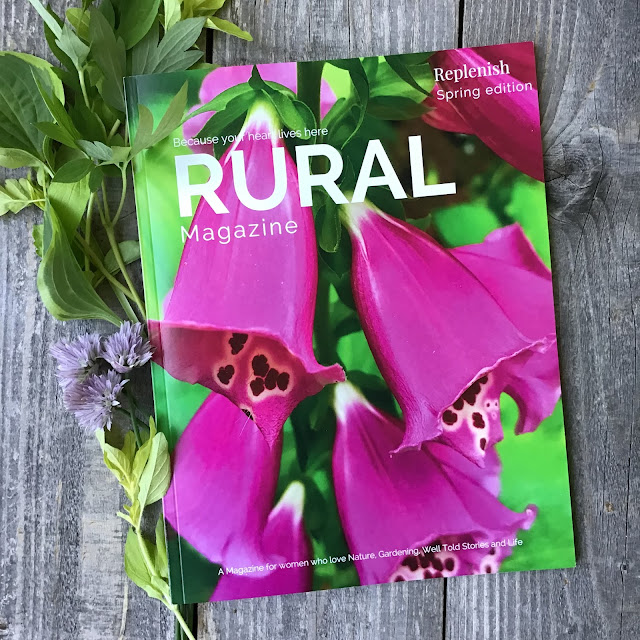 Foxgloves on cover of Rural magazine www.ruralmag.com
