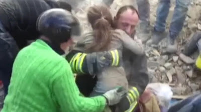 girl pulled out rubble alive earthquake italy